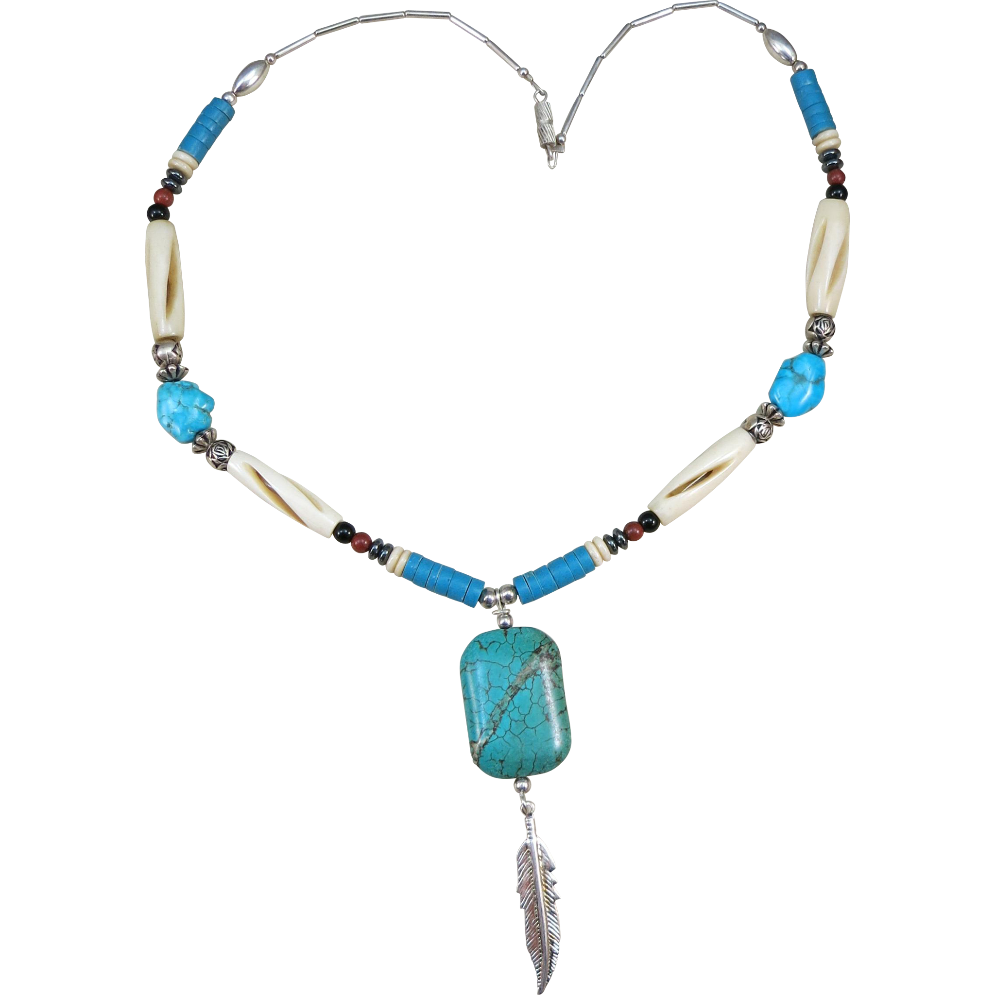 VINTAGE  Indian Style Necklace from the 80's