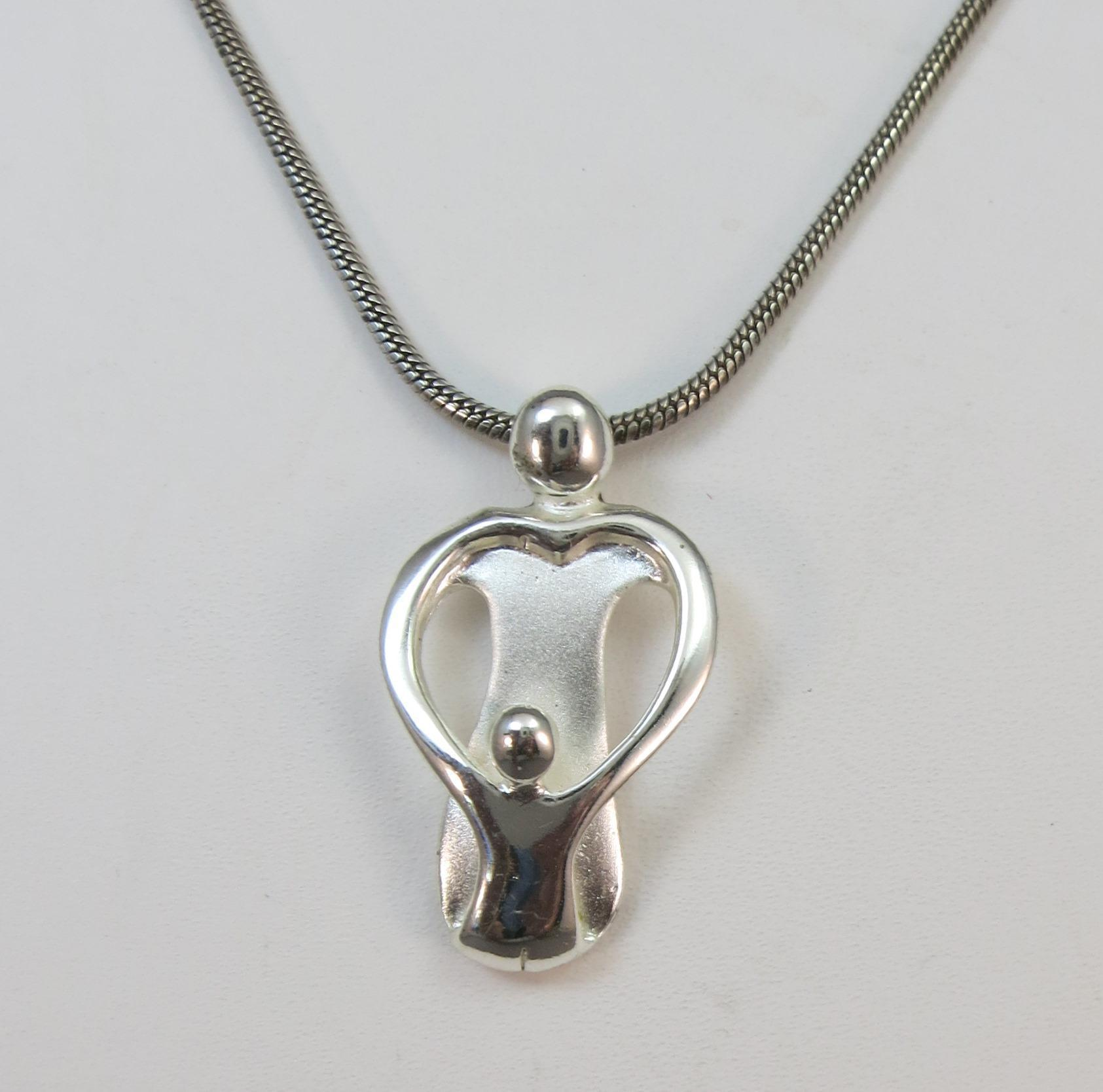 VINTAGE Mother and Child Pendant and Necklace