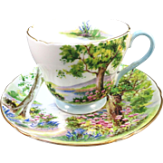 VINTAGE Woodland  13348 Shelley Cup and Saucer English Bone China