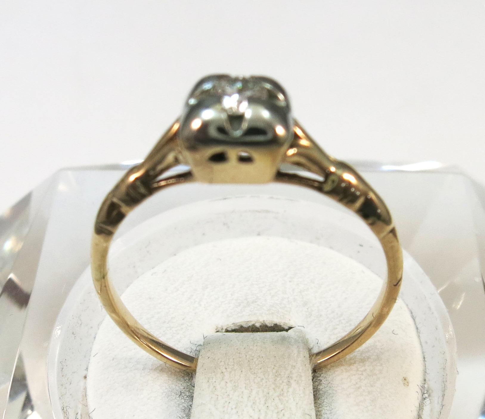 VINTAGE 40'S Diamond Engagment   Good Karma   Size 5 3/4