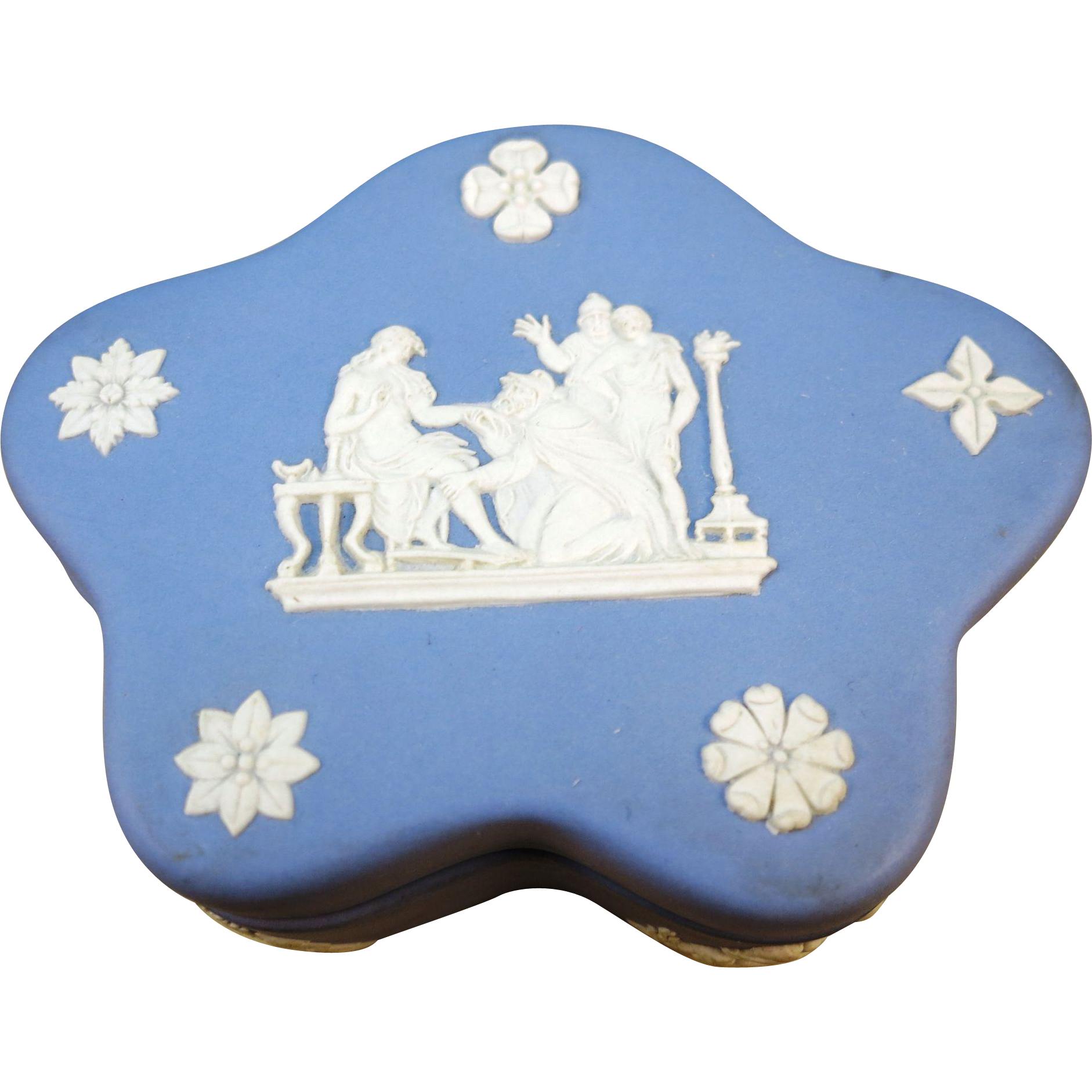 VINTAGE  Wedgwood Jasperware Small  Pin or Ring Box Made in England