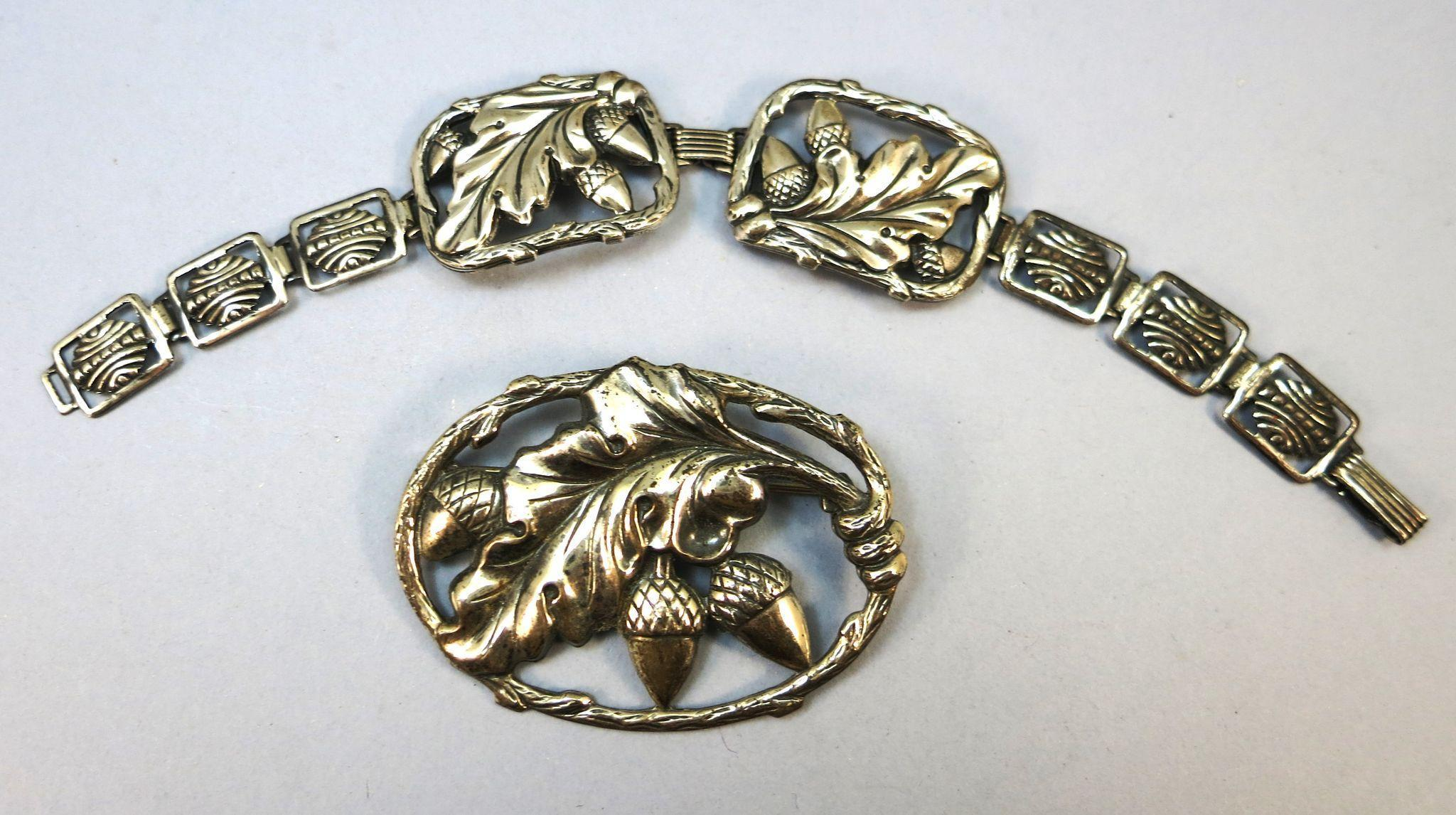 VINTAGE Two Pieces of Impressed Sterling from the 40's Acorns