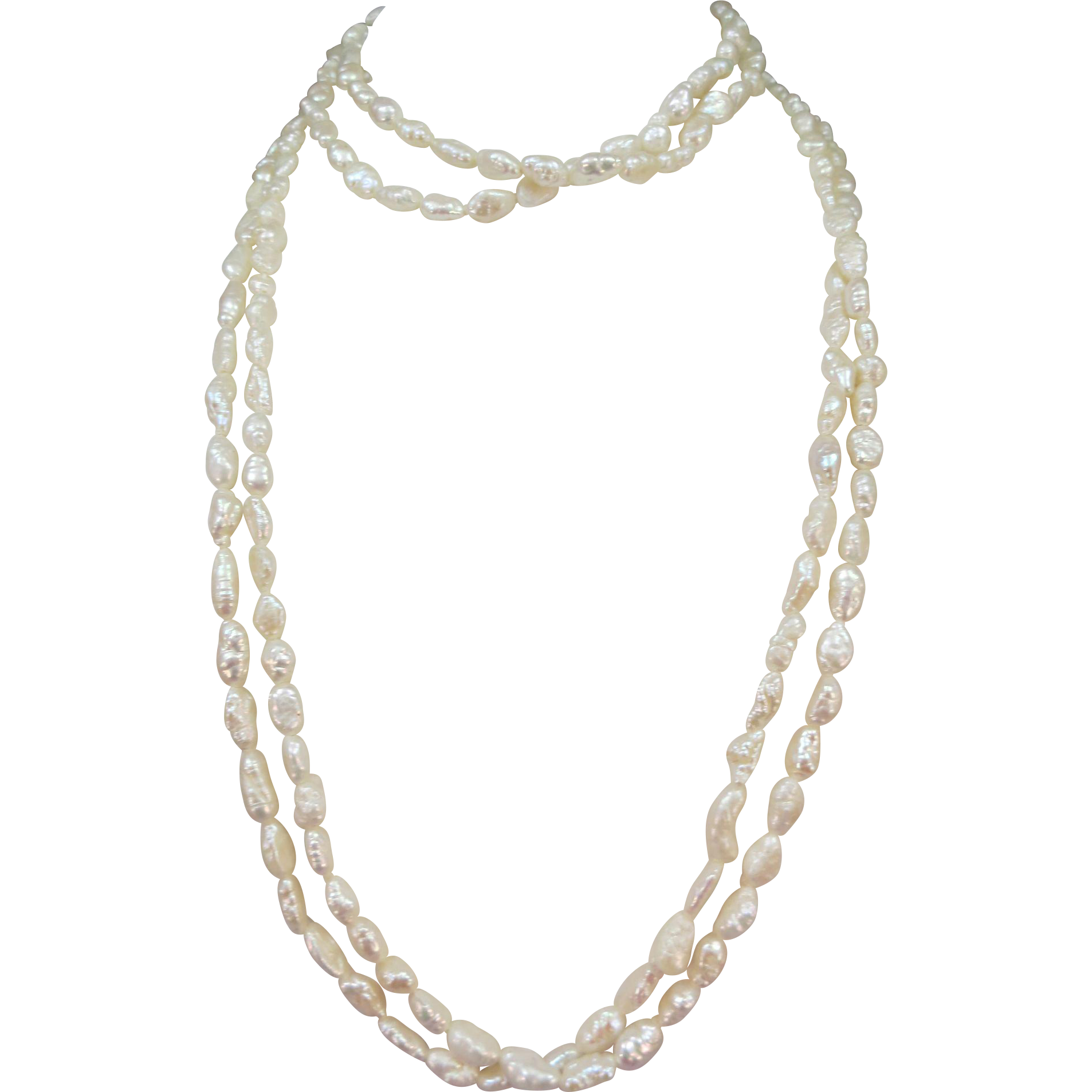 VINTAGE Fresh-Water Pearls Necklace and Bracelet