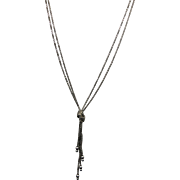 VINTAGE Classic Sterling Knotted Chain Necklace