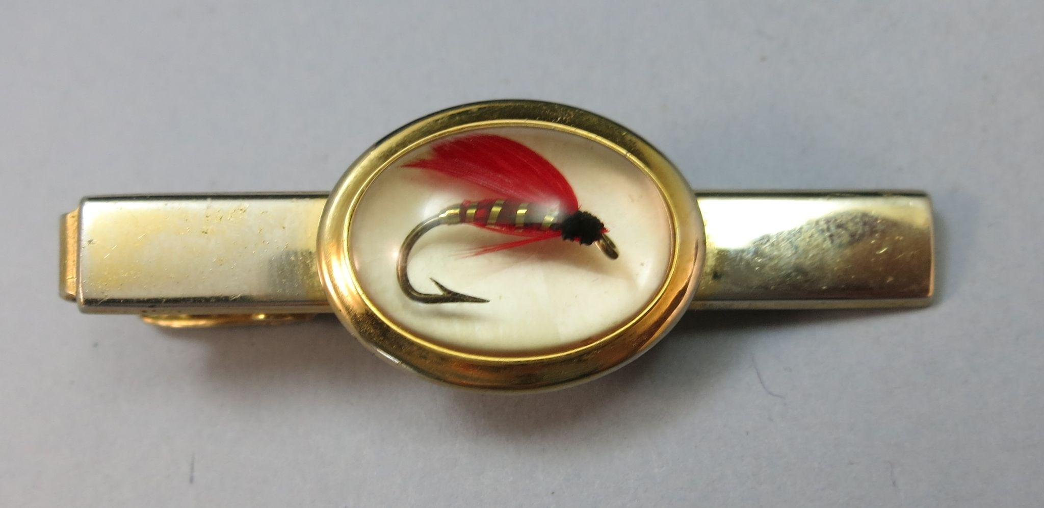 VINTAGE  Anson Famous 40's or 50's Fish Hook Tie Bar