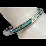 VINTAGE Zuni Channel Work  Sterling Bracelet