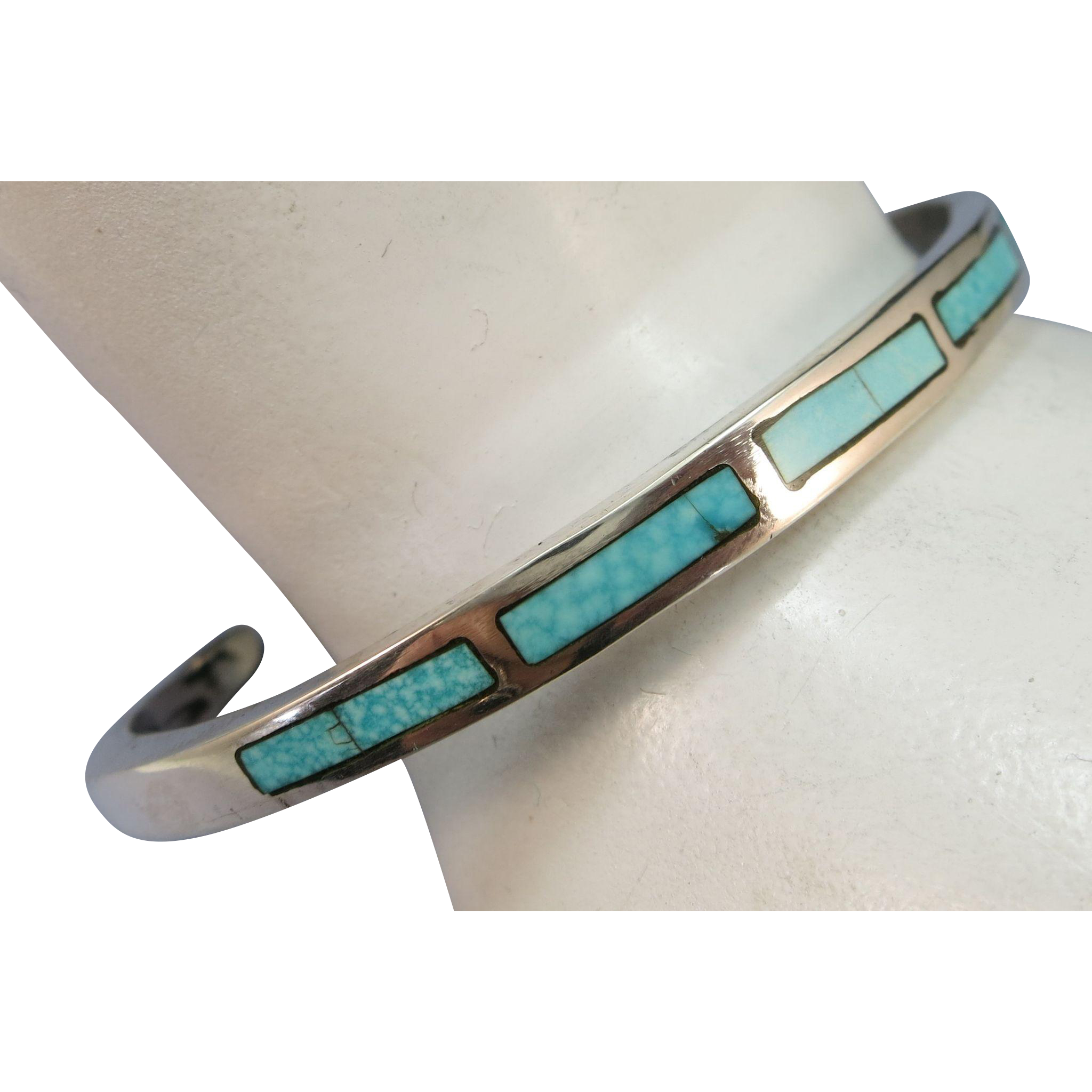 VINTAGE Zuni Channel Work  Sterling Bracelet