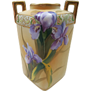 VINTAGE Nippon 6 inch vase Iris Lovers Vase Beautiful