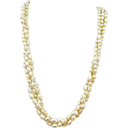VINTAGE Three Strands of Freshwater Pearls  Twisted  18 Inches