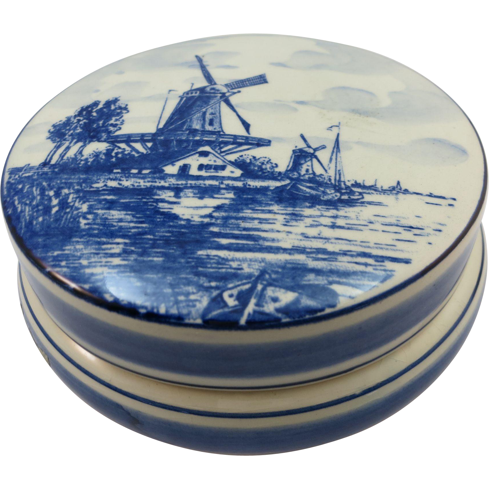VINTAGE Delft Powder Beautiful Blue from  Holland