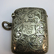 VINTAGE Sterling Hall-mark English Match Safe