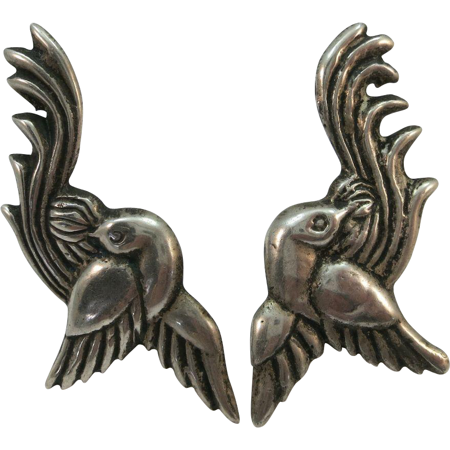 VINTAGE Mexican Sterling Screw  Earrings