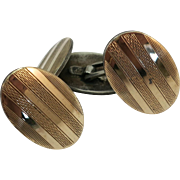 VINTAGE 830 Silver with Gold Overlay 30's Cuff Links