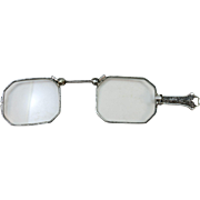 ANTIQUE  Sterling Handled Lorgnette Eye Glasses Pinse Nez (French for Pinched Nose)
