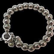 VINTAGE  Sterling ball bracelet     7 Inches