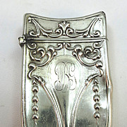 VINTAGE Sterling Match Safe 1910 Initials WBG  Beautiful