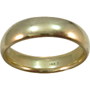 VINTAGE 14k  Yellow Gold Comfort Fit Wedding Band  Size 12