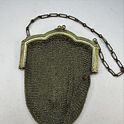 VINTAGE Art Deco Whiting and Davis Soldered Mesh Purse
