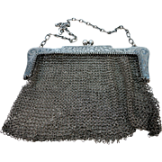 VINTAGE  Sterling S Cottle and Co  Mesh Purse