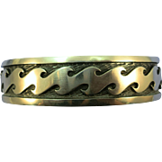 VINTAGE Sterling Hopi Traditional Wave Bracelet Superior Work