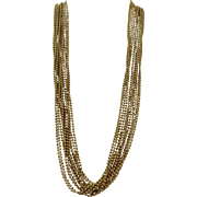 VINTAGE Older Unsigned Chains Necklace.  Very Classy
