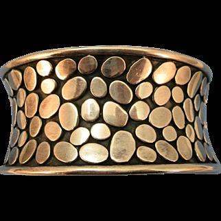 VINTAGE Sterling Designer Bracelet Signed Janice Girardi  Modernist Sterling Cuff