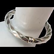 VINTAGE Sterling Twist Bracelet Made in Italy