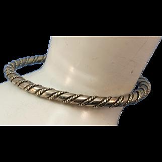 VINTAGE Sterling Twist Large Bracelet