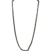 VINTAGE Sterling  Heavy Older Chain 23 and 1/2 Inches long