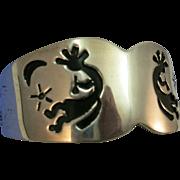 VINTAGE Kokopelli Sterling Cuff Bracelet