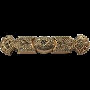 VINTAGE Victorian Gold filled Bar Brooch