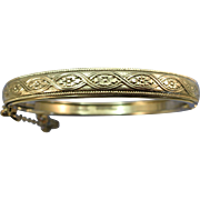 VINTAGE Silver tone Metal  Whiting and Davis Bangle Bracelet