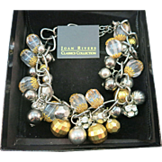 VINTAGE Fashion Joan Rivers Crazy Necklace Large and Grand in Original Box
