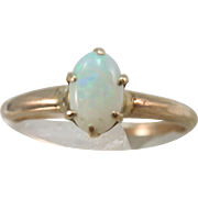 VINTAGE Natural Opal with a Six Prong Setting  Size 6 1/4