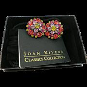 VINTAGE Joan River's Pierce Rhinestone Earrings  Pretty Pretty
