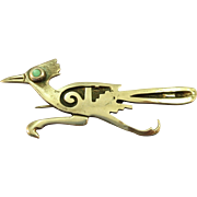 VINTAGE Sterling Road Runner with Turquoise Eye