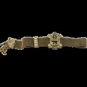 VICTORIAN Gold Filled Adjustable Mesh Slide Bracelet  Excellent Shape