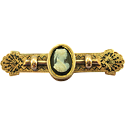 VINTAGE Victorian  Gold-Fill Bar Brooch  Lovely