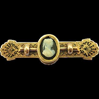 VINTAGE Victorian  Gold-Fill Bar Brooch  Lovely