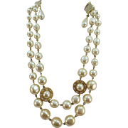 VINTAGE Faux Pearl Necklace and Earring