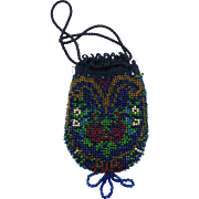 VINTAGE Small Beaded Purse for Child or Doll  Very Old