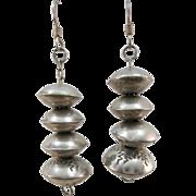 VINTAGE  Navajo Beads Fish-Hook Earrings