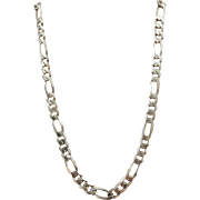 VINTAGE Unisex  Heavy 18 Inch Figaro  Italian  Necklace  Weighs 36.99g