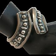 VINTAGE Mexican Sterling Clamper Bracelet Lovely