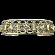 VINTAGE  1965 Krementz Silver- tone Lovely Bracelet