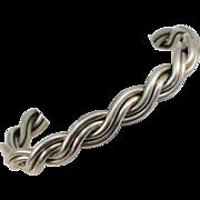 VINTAGE Sterling Double Twist Bracelet Classic Stacker