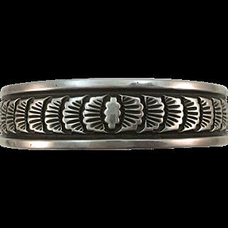 VINTAGE Navajo Darin Bill Signed Prize Winning Bracelet Heavy Beautiful