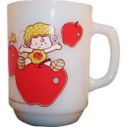 SALE Anchor Hocking Apple Dumpling Mug -- 1980's Strawberry Shortcake Collectible