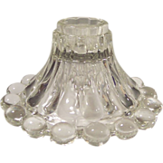 Anchor Hocking Boopie Crystal Clear Glass Candle Holder