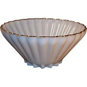 1960's -70's Anchor Hocking Fire King Classic Rachael Milk White Large Serving Bowl